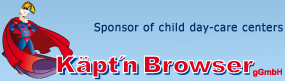 Sponsor of child day-care centers - Käpt'n Browsers (gGmbh)