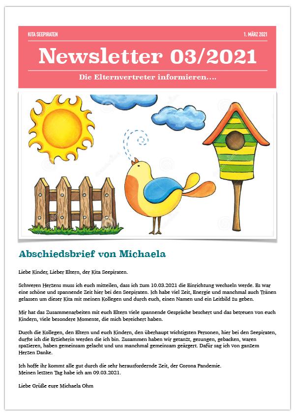 Abschiedsbrief an eltern kindergarten