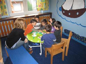 unterhalten über obst mit kinder